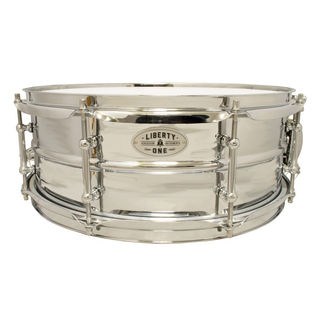 liberty i steel snare drum - 14x5.5