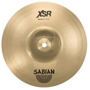 "sabian 10"" xsr splash cymbal brilliant finish"