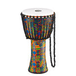 "meinl 12"" rope tuned travel series djembe - synthetic head"