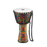"meinl 10"" rope tuned travel series djembe - synthetic head"
