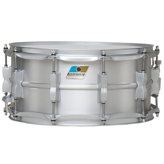 Ludwig aluminum acrolite snare drum metal snare for Yamaha stage custom steel snare drum 14x6 5