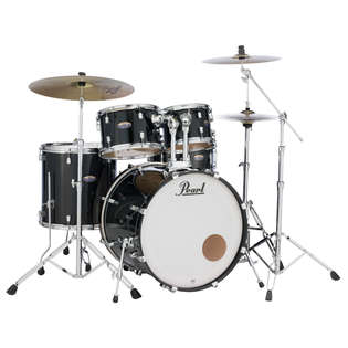 pearl decade maple 5 piece black ice drum set shell pack