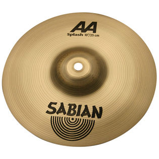 "sabian 10"" aa splash cymbal - brilliant"