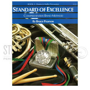 pearson-standard of excellence comprehensive band method: drums/mallet percussion book 2