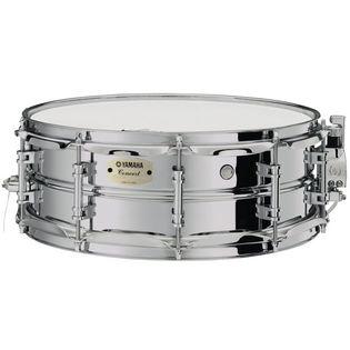 yamaha css-a concert steel snare drum - 14x5 with case and ss745 stand