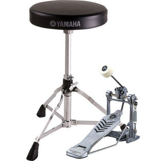 yamaha bass drum pedal and throne package - fp-6110a & ds-550