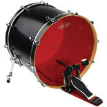 evans hydraulic red bass drum head