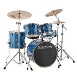 "ludwig element evolution 5 piece drum set with hardware and cymbals - 20"" bass drum"