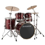 "ludwig element evolution 5 piece drum set with hardware and cymbals - 22"" bass drum"
