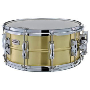 yamaha recording custom brass snare drum - 14x6.5