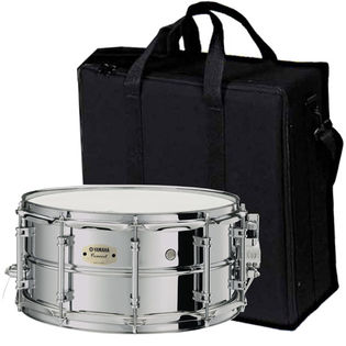 Yamaha css concert steel snare drum 14x6 5 with case for Yamaha stage custom steel snare drum 14x6 5
