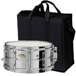 yamaha css concert steel snare drum - 14x6.5 with case