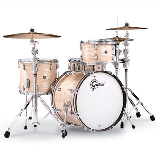 gretsch brooklyn series 4 piece shell pack - creme oyster