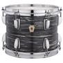 ludwig usa club date shell pack - vint blk oyster 20,12,14