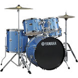"Yamaha GigMaker 5 Piece Drum Set With Hardware And Cymbals - 20"" Bass Drum - Burgundy Glitter - Yamaha GigMaker 5 Piece Drum Set - 20"" Bass Drum"
