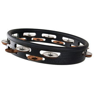 "grover 10"" studio pro double row headless tambourine - silver / bronze"