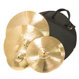 weiss traditional cast cymbal pack 2 with free splash & bag