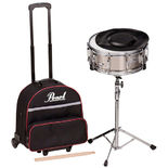 pearl sk900c snare drum kit with carrying case with wheels -open box (used demo)