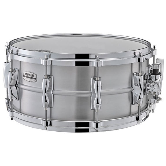 Yamaha recording custom aluminum snare drum 14x6 5 for Yamaha stage custom steel snare drum 14x6 5