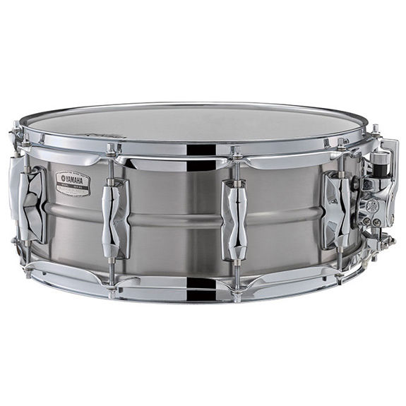 yamaha recording custom stainless steel snare drum 14x5 5 metal snare drums snare drums. Black Bedroom Furniture Sets. Home Design Ideas