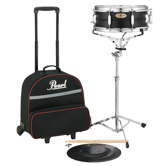 pearl sk910c snare drum kit with carrying case with wheels educational percussion kits. Black Bedroom Furniture Sets. Home Design Ideas
