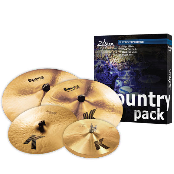 zildjian k country cymbal pack cymbal packs and cymbal sets cymbals gongs steve weiss music. Black Bedroom Furniture Sets. Home Design Ideas