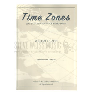 Cahn-Time Zones-Five Concert Pieces for Snare Drum-SD | Unaccomp