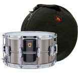 ludwig black beauty supraphonic snare drum with free galaxy bag - 14x8
