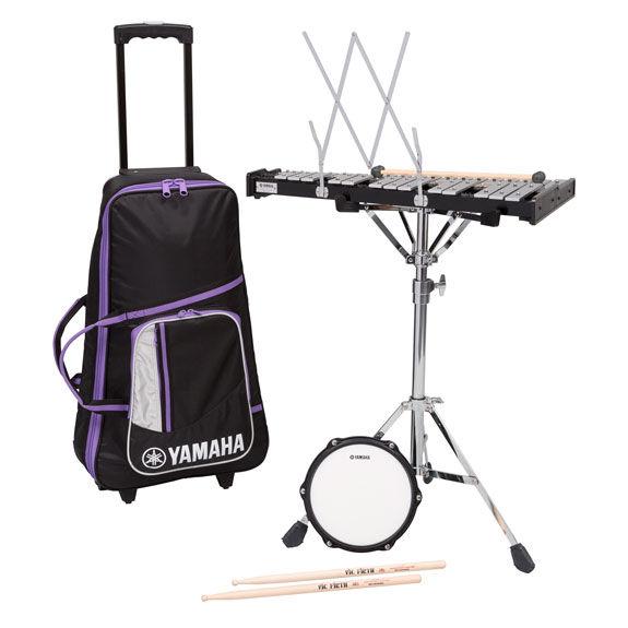 Yamaha student bell kit with rolling cart sbk350 for Yamaha student bell kit with backpack and rolling cart