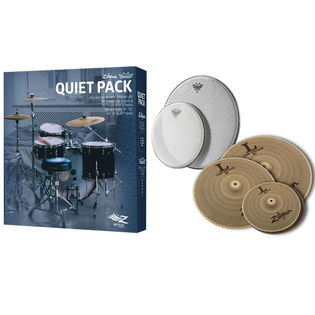 zildjian l80 low volume quiet pack with remo silent stroke drum heads