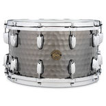 gretsch full range series hammered black steel snare drum - 14x8