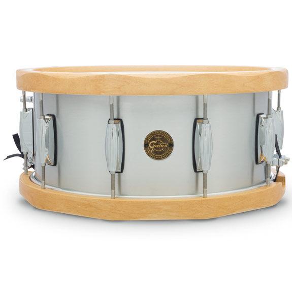 gretsch full range series wood hoop aluminum snare drum 14x6 5 metal snare drums snare. Black Bedroom Furniture Sets. Home Design Ideas