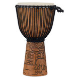 "pearl 12"" percussion hand carved mahogany djembe - malinke village"