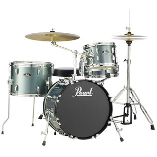 "pearl roadshow 4-piece bop drum set with hardware and cymbals - 18"" bass drum"