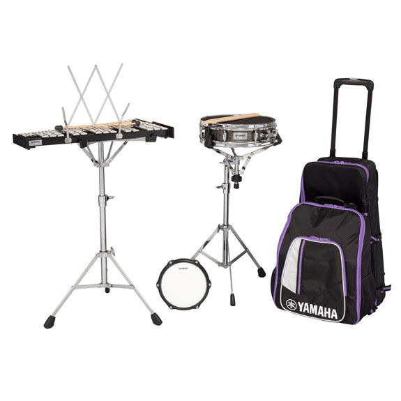 Yamaha student total percussion kit with rolling cart for Yamaha student bell kit with backpack and rolling cart
