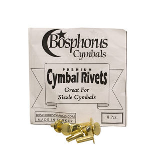 bosphorus nickle plated brass cymbal rivets - 8 pack