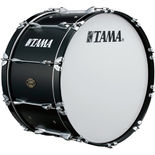 tama marching bass drum - maple