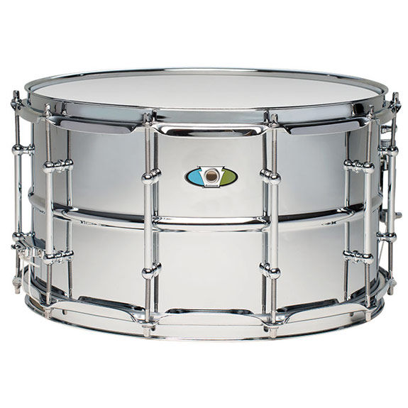ludwig 14x8 supralite steel snare drum metal snare drums snare drums steve weiss music. Black Bedroom Furniture Sets. Home Design Ideas