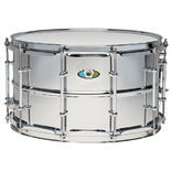 ludwig supralite steel snare drum - 14x8