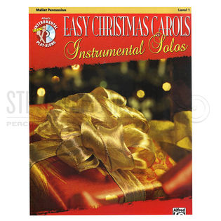 alfred's instrumental play-along: easy christmas carols- mallet percussion (book w/cd)