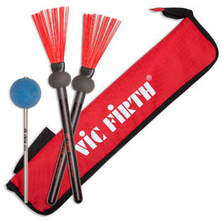 vic firth cajon promo pack with free esbred stick bag