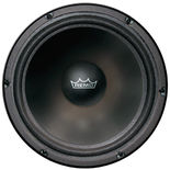 "remo 22"" speaker graphic resonate bass drum head"
