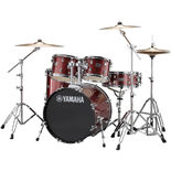 "yamaha rydeen 5 piece drum set with hardware - 20"" bass drum"