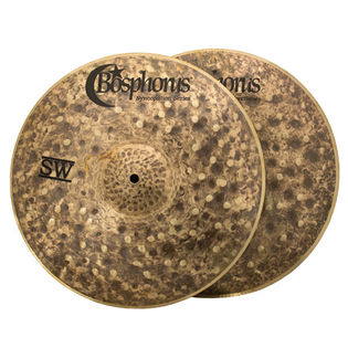 "bosphorus 14"" syncopation series sand washed hi-hat cymbals"