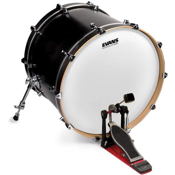 evans eq4 uv bass drum head bass drum heads steve weiss music. Black Bedroom Furniture Sets. Home Design Ideas
