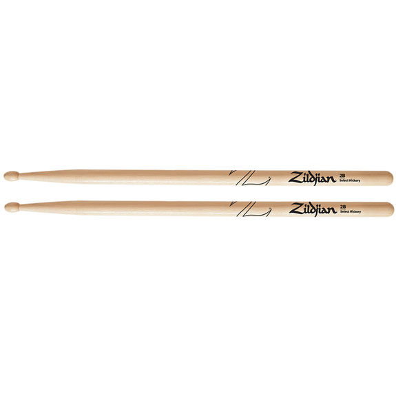 zildjian 2b natural finish wood tip drumstick drumsticks drum set latin steve weiss music. Black Bedroom Furniture Sets. Home Design Ideas