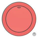 remo colortone powerstroke p3 batter bass drum head -  red