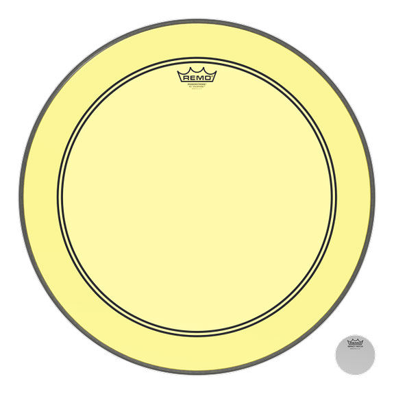 remo yellow colortone powerstroke p3 bass drum head bass drum heads drum set drum heads. Black Bedroom Furniture Sets. Home Design Ideas