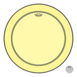 remo colortone powerstroke p3 batter bass drum head - yellow