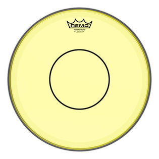 remo yellow colortone powerstroke 77 snare batter head snare drum heads tom heads drum set. Black Bedroom Furniture Sets. Home Design Ideas